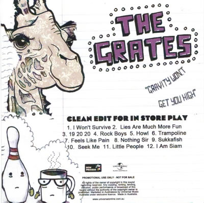 The Grates - Gravity Won't Get You High (Clean Version)